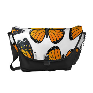 Monarch Butterfly Pattern Courier Bag
