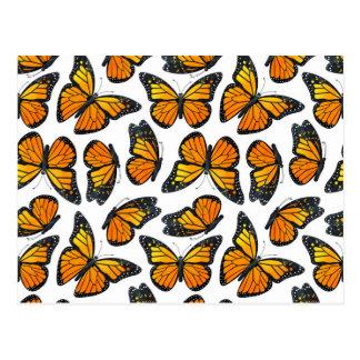 Monarch Butterfly Pattern Postcard