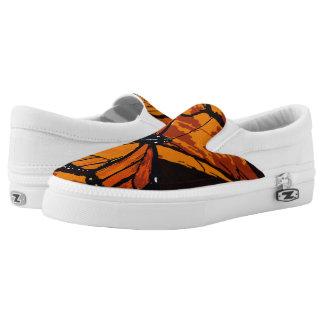 Monarch Butterfly Pattern Slip On Shoes