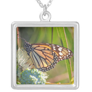 Monarch Butterfly Photo Necklace