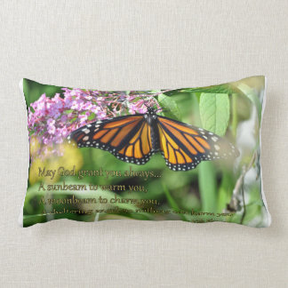Monarch Butterfly  pillow with Irish blessing