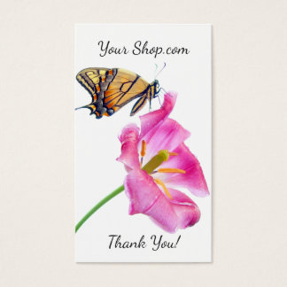Monarch Butterfly Pink Floral Tulip Floral Business Card