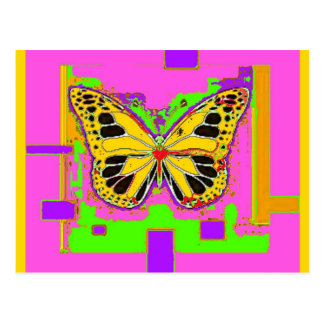 Monarch Butterfly, pink, purple gifts by Sharles Postcard