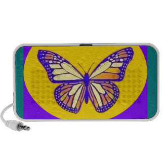 Monarch Butterfly Purple-Gold-Teal Gifts - Sharles Mp3 Speaker