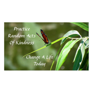 Monarch Butterfly  Random Acts of Kindness Card Pack Of Standard Business Cards