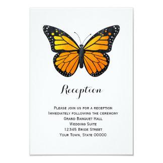 Monarch Butterfly Reception Info Card 9 Cm X 13 Cm Invitation Card