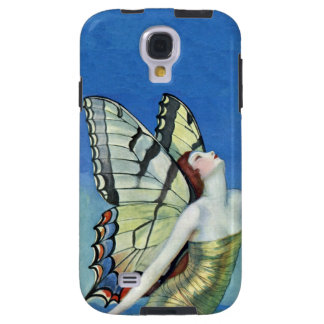 Monarch Butterfly Red Hair Vintage Fairy Galaxy S4 Case