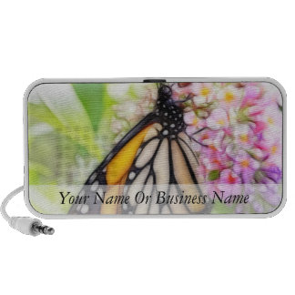Monarch Butterfly Sipping Nectar Notebook Speakers