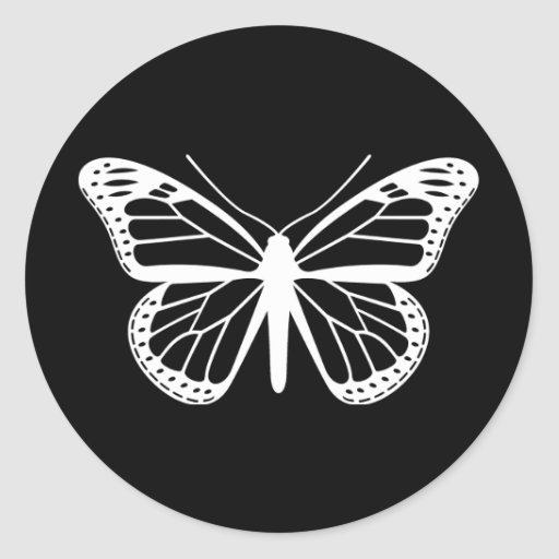 Monarch Butterfly Round Stickers