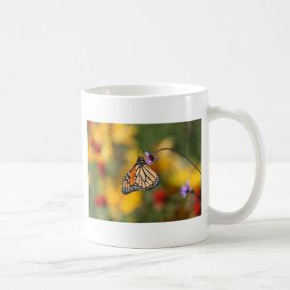 Monarch Butterfly Stops for Pollen Basic White Mug