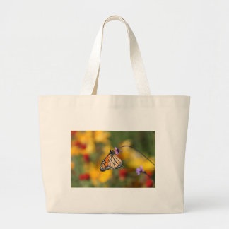 Monarch Butterfly Stops for Pollen Jumbo Tote Bag
