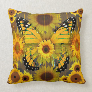 MONARCH BUTTERFLY SUNFLOWER DREAMS CUSHION