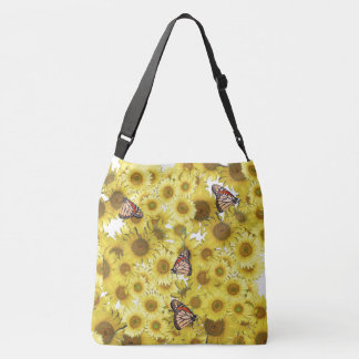 Monarch Butterfly Sunflower Flowers Tote Bag