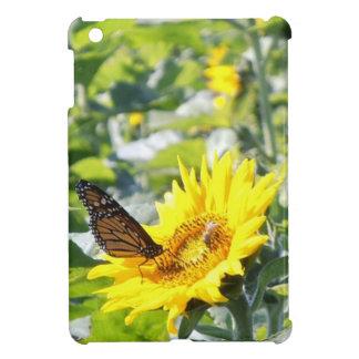 Monarch Butterfly Sunflower iPad Mini Case