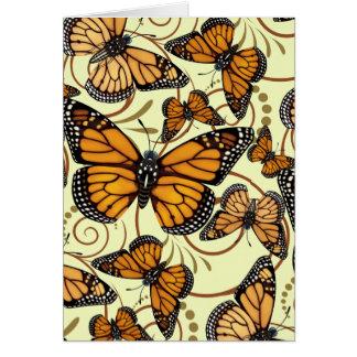Monarch Butterfly Swirl Card