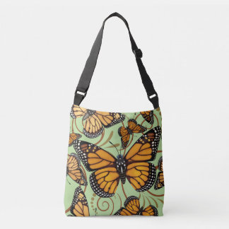 Monarch Butterfly Swirl Crossbody Bag
