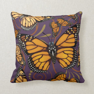 Monarch Butterfly Swirl Cushion