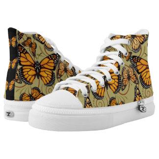 Monarch Butterfly Swirl High Tops