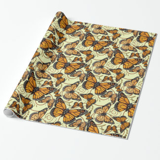 Monarch Butterfly Swirl Wrapping Paper