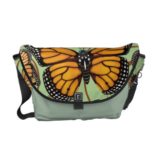 Monarch Butterfly Swirls Messenger Bag