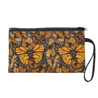 Monarch Butterfly Swirls Wristlet
