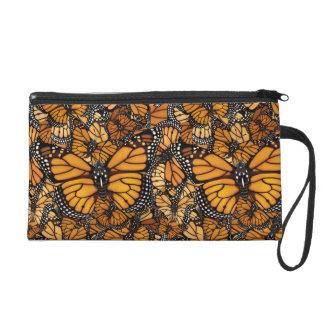 Monarch Butterfly Swirls Wristlet Purse