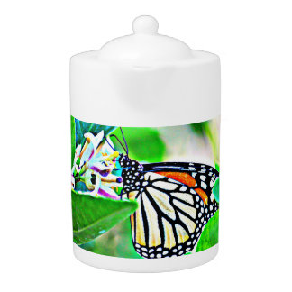 Monarch Butterfly Tea Pot