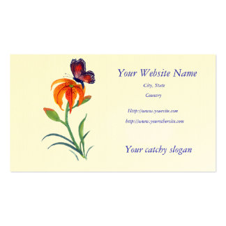 Monarch Butterfly & Tiger Lily Pack Of Standard Business Cards