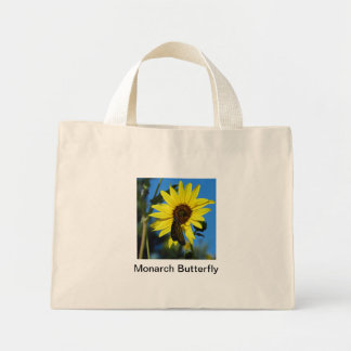 Monarch Butterfly Canvas Bag