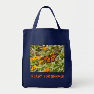 Monarch Butterfly Tote Grocery Tote Bag