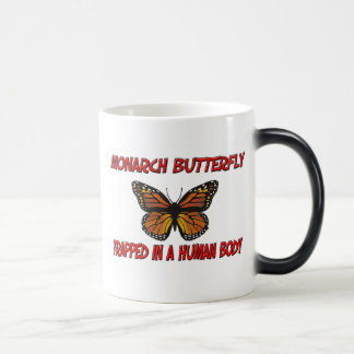 Monarch Butterfly trapped in a human body Mug