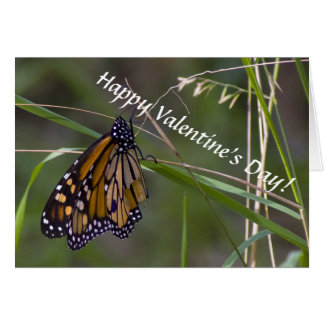 Monarch Butterfly Valentine's Card