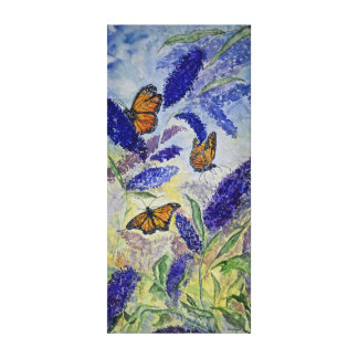 Monarch Butterfly Watercolor 16x20 Canvas Print