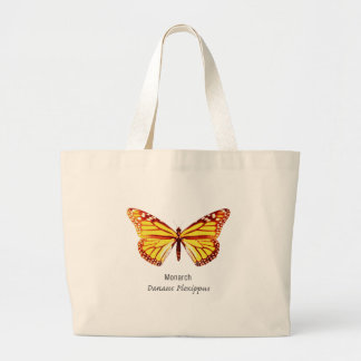 Monarch Butterfly with Name Canvas Bag