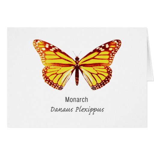 Monarch Butterfly with Name Greeting Card
