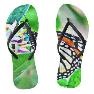 Monarch Butterfly Women's Flip Flops