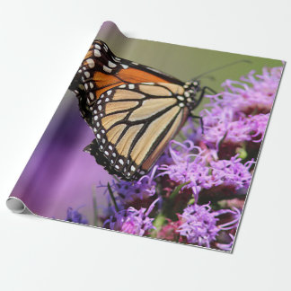 Monarch butterfly wrapping paper