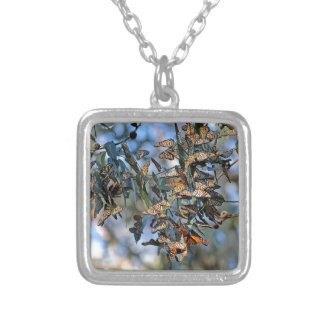 Monarch Cluster Silver Plated Necklace