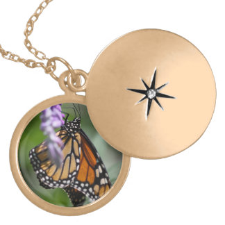 Monarch Danaus Plexippus Locket Necklace