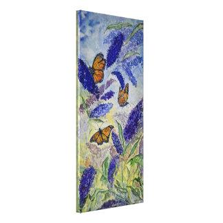 Monarch Floral Watercolor Canvas Print