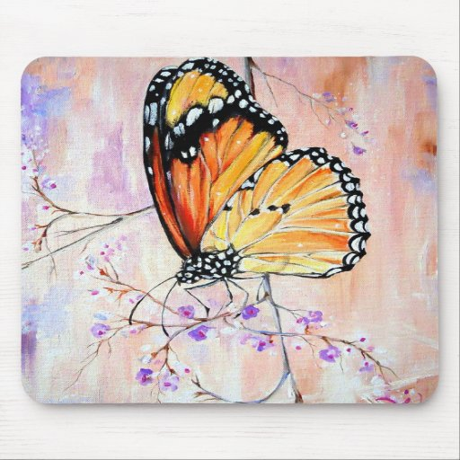 Monarch in Spring Mousepads