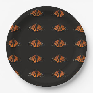 Monarch in the key of Orange and black Paper Plate