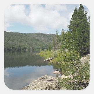 Monarch Lake in Colorado Square Sticker