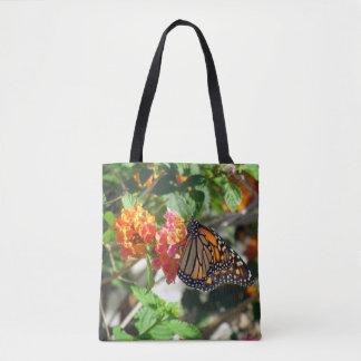Monarch Nectaring on Lantana Tote Bag