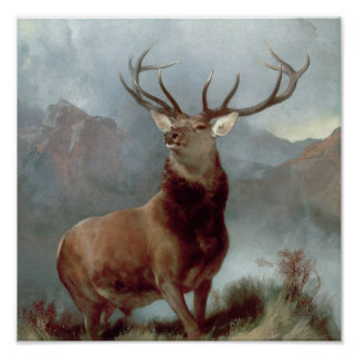 Monarch of the Glen, 1851 Poster