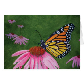 Monarch on Coneflower Greeting Card