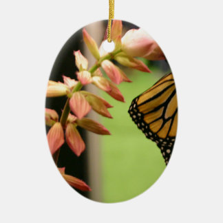 Monarch on Flower Ceramic Oval Decoration