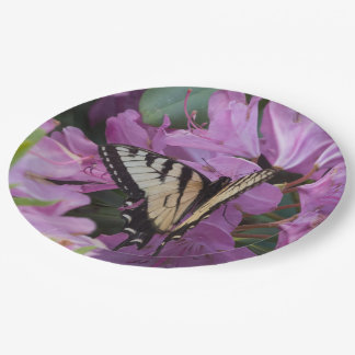 Monarch on Rhododendron Paper Plates. Paper Plate