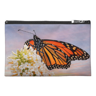 Monarch on White Flowers with beautiful sky Travel Accessory Bags