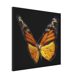 Monarch Orange Butterfly Flying Insect Gallery Wrap Canvas